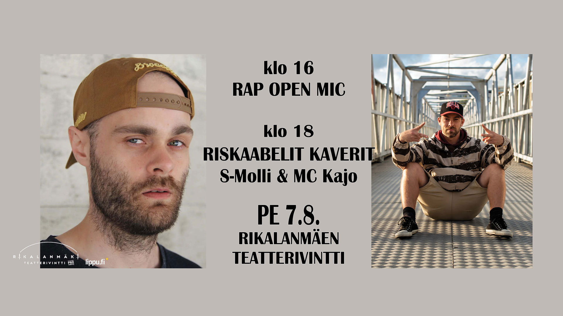 Riskaabelit Kaverit: Freestyle Rap Show & Open Mic pe 7.8.2020 klo 16.00
